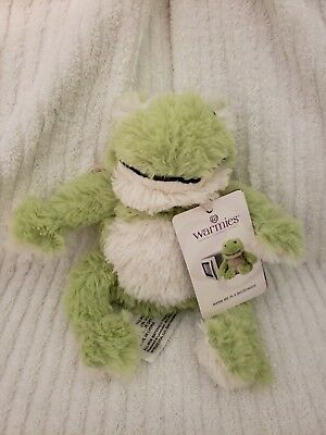 Warmies Cozy Plush -  Frog Junior Mini Therapy Microwavable Heatable Toy