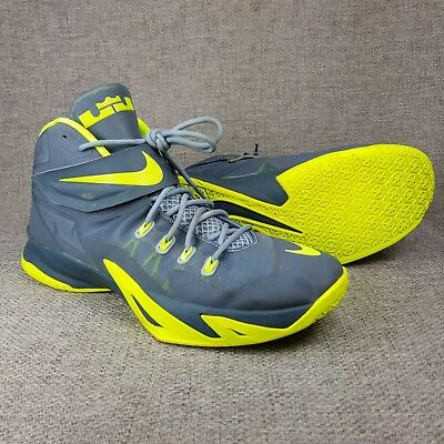 eea3a4976a43 Nike Lebron Soldier 8 VIII Men s Basketball Shoes 653641-070 Grey Volt size  14