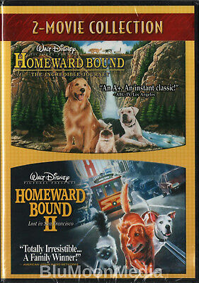 Homeward Bound The Incredible Journey 1 & 2 DVD Set Lost in San Francisco II NEW