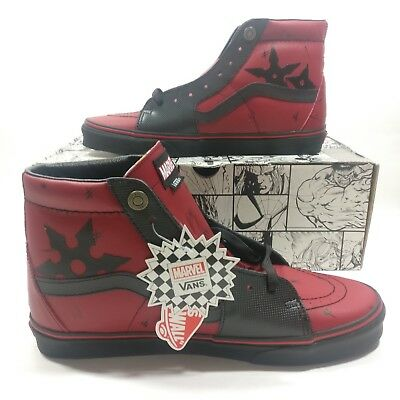 f04b6d856fe6 Mens VANS SK8-HI Marvel Deadpool Limited Edition Leather Black Multi Size  Shoes