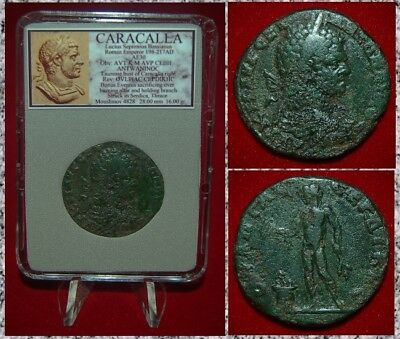 Ancient Roman Empire Coin CARACALLA Bonus Eventus On Reverse Bronze Serdica