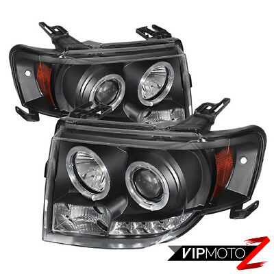08-12 Ford Escape Híbrido Fwd / 4WD Halo Proyector Negro Led Faro Frontal Signal