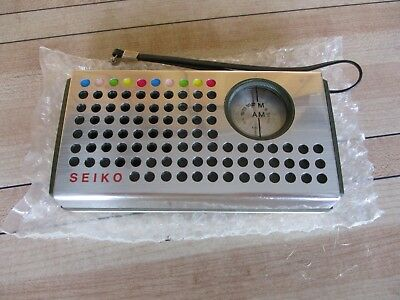 VTG  SEIKO SOLID state AM FM 2 band transistor radio FS-23 - New Old Stock