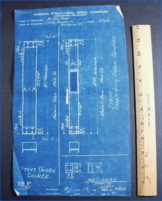 Vintage rach cooker blueprint for phoenix brewery cleveland ohio vintage cooker struts blueprint james hanley brewing co providence ri rach malvernweather Images