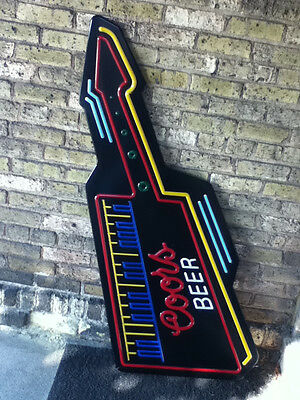 Coors beer sign bar signs 1 neo-neon sign cover guitar shape for lighted WD8