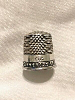 Antique Sterling Silver Sewing Thimble Size 11, Free USA Shipping
