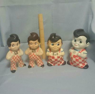 ELIAS RESTAURANTS INC  BIGBOY Vintage Piggy Bank 4 set (High 8in ~ 11in) F569