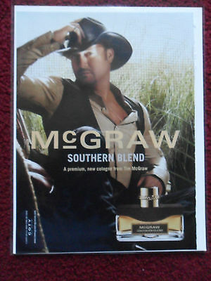 2009 Print Ad Country Singer TIM McGraw Men's Southern Blend Cologne Fragrance