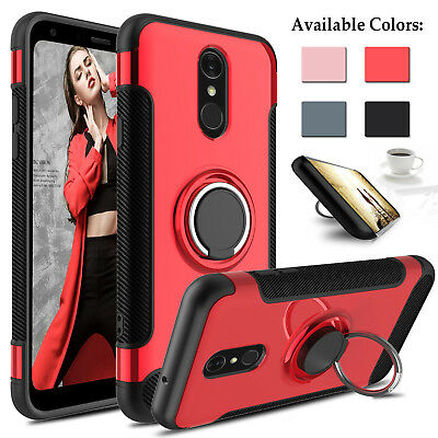 For LG Q7 Plus 2018/G7 ThinQ Shockproof Hybrid Phone Case With Ring Stand Holder