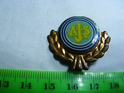 AJS..  motorcycle very old lapel,hat pin badge(B)