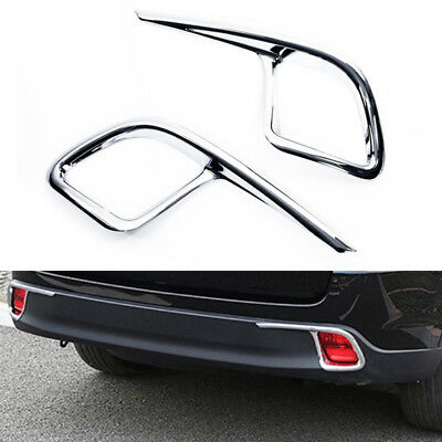 For Toyota Highlander 2014-2018 Chrome Rear Bumper Fog Light Cover Trim Molding