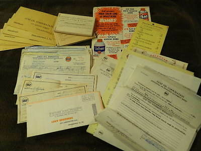 Awesome Lot Of Vintage GULF OIL Advertising Items - Receipt Books, Ephemera