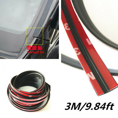 9.84ft Rubber Seal Car Front Rear Windshield Sunroof Dustproof Edge Weatherstrip