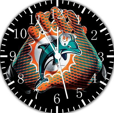 Miami Dolphins Frameless Borderless Wall Clock Nice For Gifts or Decor F134
