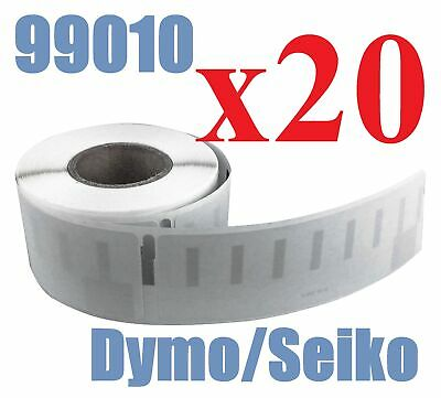 20 x Rolls Labels for Dymo Seiko 99010 89mm x 28 mm LabelWriter 450/450 Turbo