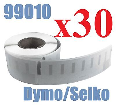 30 x Rolls Labels for Dymo Seiko 99010 89mm x 28 mm LabelWriter 450/450 Turbo
