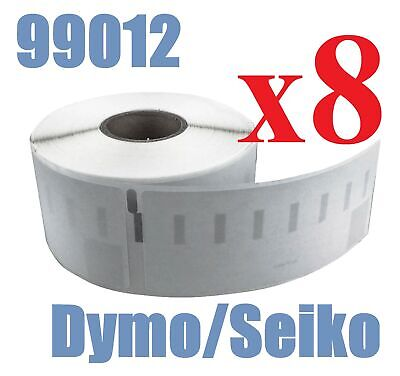 8 x Rolls Labels for Dymo Seiko 99012 36mm x 89mm LabelWriter 450/450 Turbo