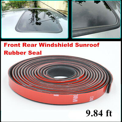 Car Windshield Sunroof Triangular Window Waterproof 9.84 ft Sealed Strips Trim