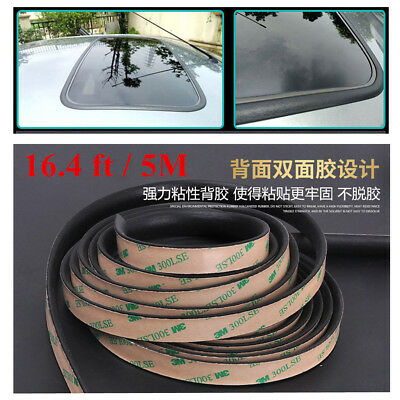 Universal Weatherstrip 16.4ft Sunroof Waterproof Rubber Car Triangular Window