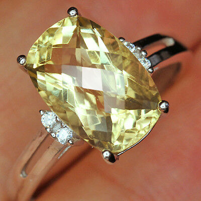 12.6Ct 100% Natural 18K Gold Plated Unique Lemon Citrine Faceted Ring UDQL55