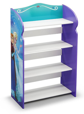 Delta Children Disney Frozen Wooden Bookcase Storage Unit,Kids Bookshelf Storage