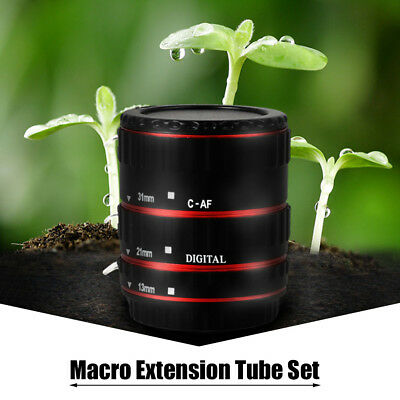 Macro Extension Tube Ring Auto Focus Adapter Tube Ring for Canon EOS EF Lens UK
