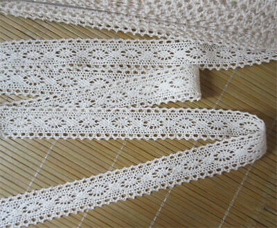 3 yd Vintage Embroidered Lace Edge Trim Ribbon Wedding Applique DIY Sewing Craft
