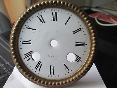 A French Striking Mantel Clock Enamel Dial With Rim And Straps P/p On Payment