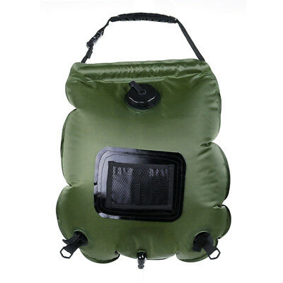Outdoor Solar Bathing Hot-Water bottle PVC 20L Heating Bag temperature record