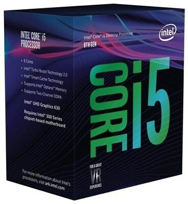 Intel Core i5-8600 boxed  Hexa Core (6-Kern)  bis 4.30 GHz Boxed mit Lüfter