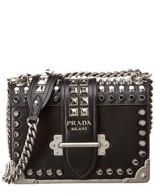 6894d5d7e6ea01 PRADA BLACK CAHIER Leather Shoulder Bag - $516.00 | PicClick