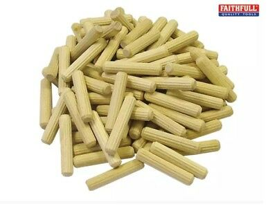 Faithfull - Wood Fluted Dowel Pegs are Made From Air Dried Beechwood