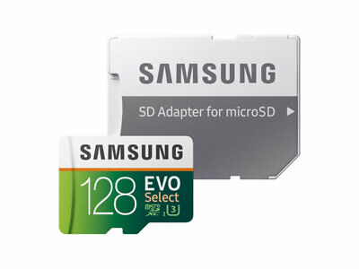 128GB  Micro SD CARD SAMSUNG EVO SELECT SDXC SDHC CARD UHS-1 AND ADAPTER