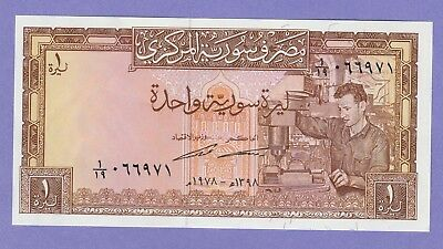 Syria,1 Pound Banknote,1978-AH1398,Uncirculated Condition,Cat#93-D