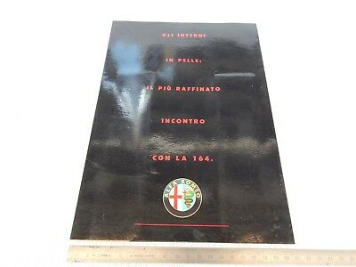 Rara Brochure Originale Alfa Romeo Specifica Interni In Pelle 164 Depliant