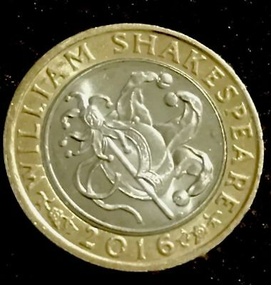 £2.00 Coin 2016 Two Pound coin William Shakespeare Comedies Jester . Circulated