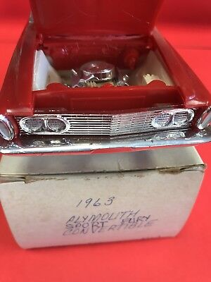 1963 Plymouth (Sport?) Fury Convertible Red Jo-Han Kit See Pic & Description