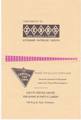 Vintage 1960's Canadian Tire & Zehrs Advertising