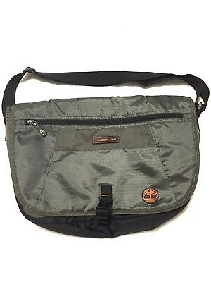 84ebadaee03 Timberland Twin Mountain Olive Green Canvas Luggage Messenger Carry On Bag