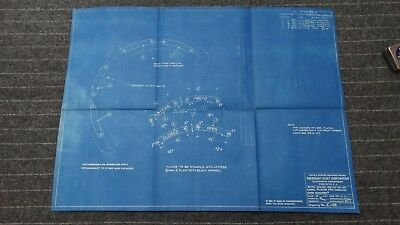 "(E139) Original 1918 Blueprint Drwg 19"" x 26"" - Label Plates for Handling Gear Q"