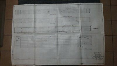 "Original 1910 Vellum Drawing 24"" x 36"" - 120' x 34' x 6' 8-1/2"" Hull Dredge"
