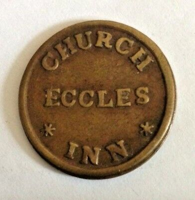 Eccles (Manchester), Lancs, Church Inn, Thomas Morton (publican) 2d Pub Token