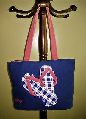 Longaberger Small Flip Flop Tote and Matching Wallet Free Shipping