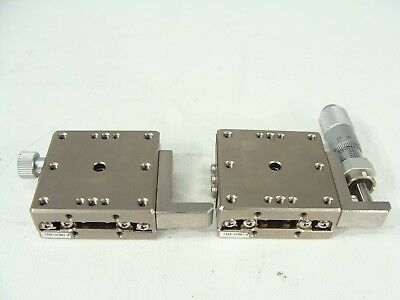 2 x 40mm x 40mm X-Y Axis Adjustable Linear Positioner Stage Table W/ Micrometer