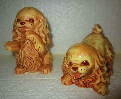 """Ceramics by Cathy Vintage Pekingese Dog Pair Mint Condition 5"""""""