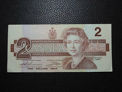 1986 $2 Dollar Bank Note Canada Replacement Bill EBX0171795 Thiessen Crow EF Gr