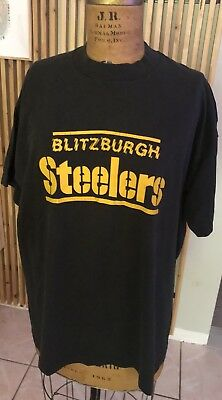 "Rare Vintage NFL Pittsburgh Steelers ""Blitzburgh"" 90's 80's Shirt XL"
