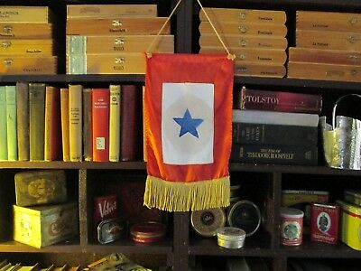WW2 Blue Star Mothers Flag Child in Service Rare Long Gold Fringe