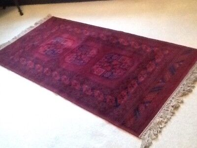 "Vintage/Antique Rectangular Red Turkish Rug 75"" X 35"""