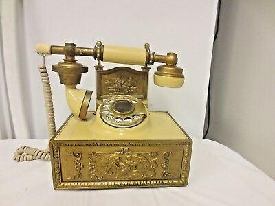Western Electric Rotary Dial Victorian French Cradle Style Desk Telephone 75612